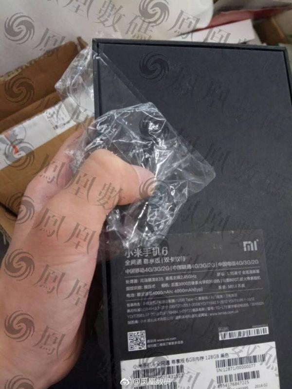 Caja del Xiaomi Mi 6