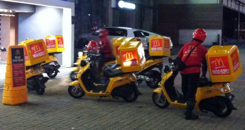 Reparto a domicilio de McDonalds
