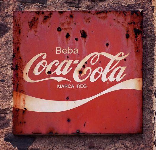 Letrero de Coca-Cola