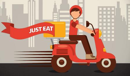 Repartidor de Just Eat en moto