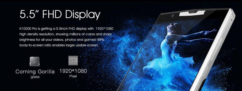 Oukitel K10000 Pro y su pantalla