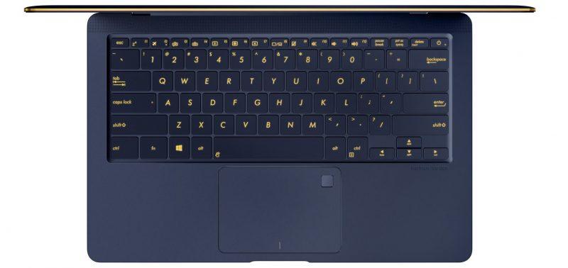 Teclado del ASUS ZenBook 3 Deluxe