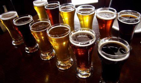 Varios tipos de cervezas