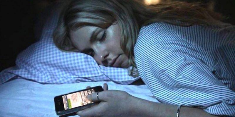 El smartphone en la cama