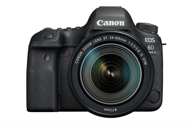 Frontal con objetivo Canon EOS 6d Mark II