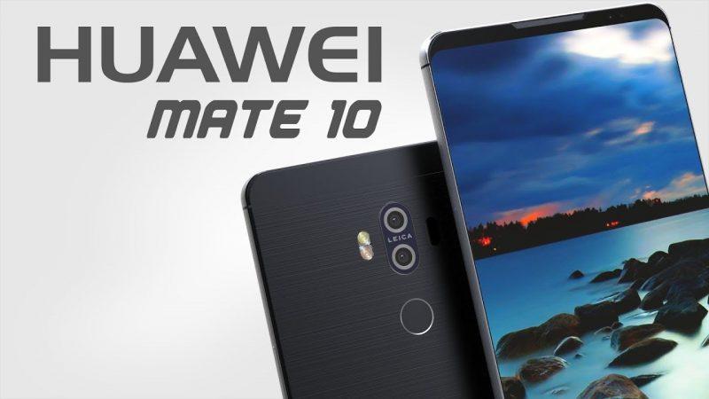Huawei Mate 10 en un render