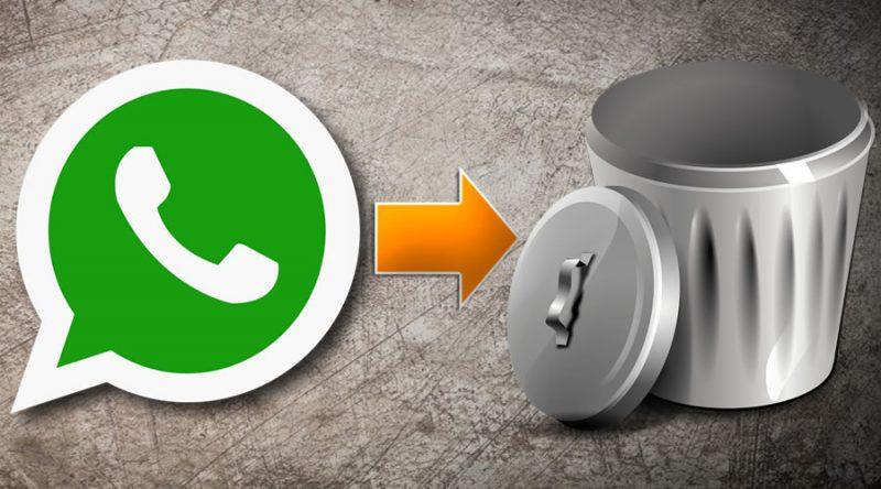 Whatsapp a la basura