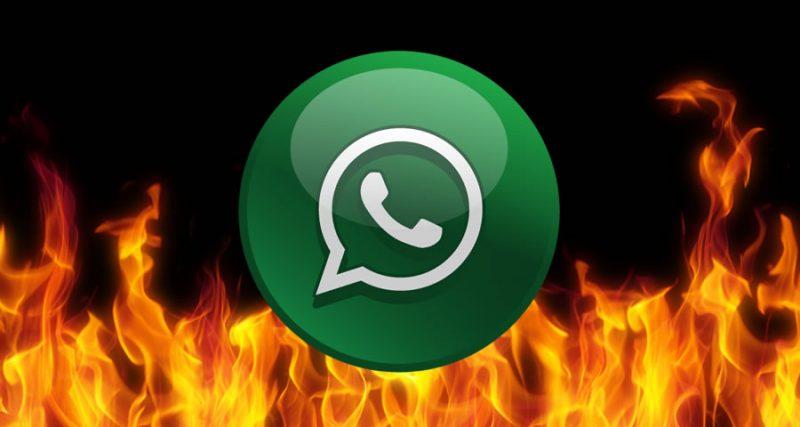 Whatsapp en llamas