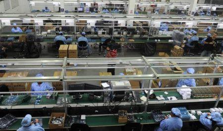 Fabrica de móviles china