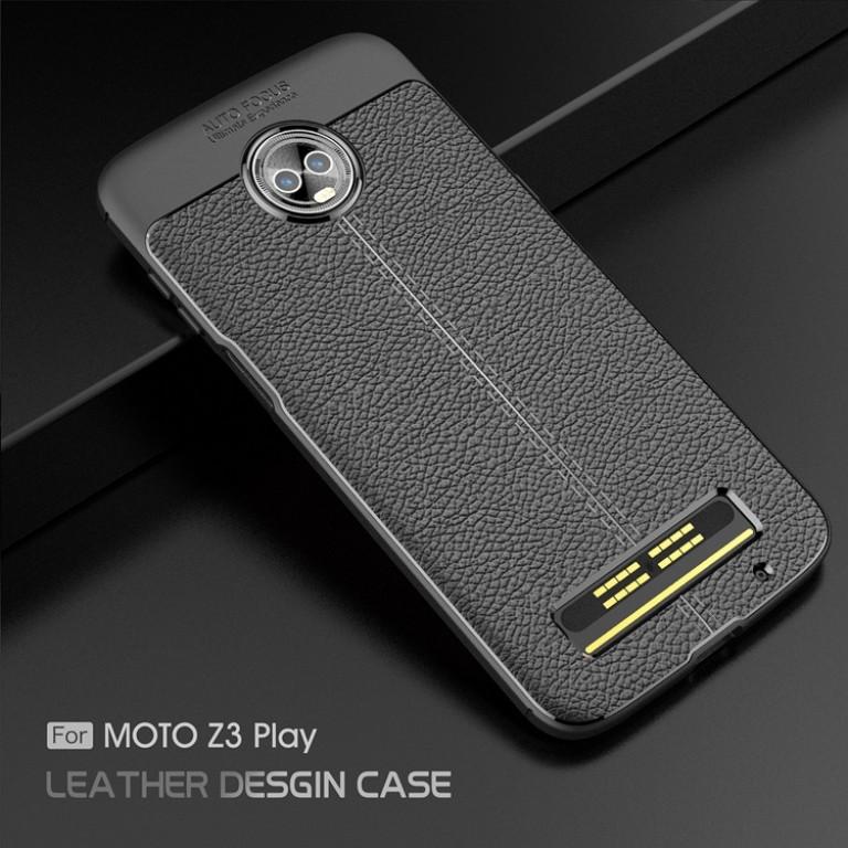 Funda negra de Moto Z3 Play