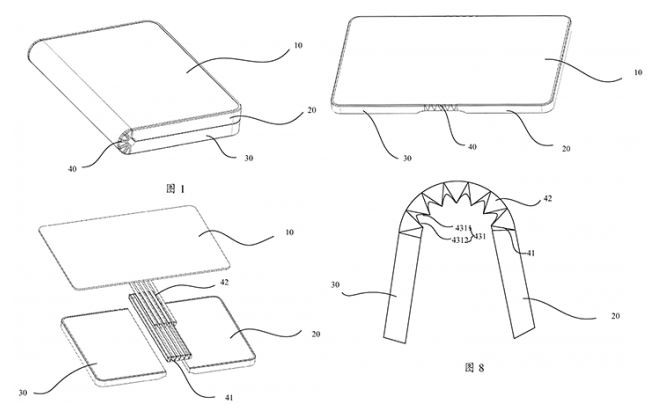 Patente móvil con pantalla plegable de Huawei