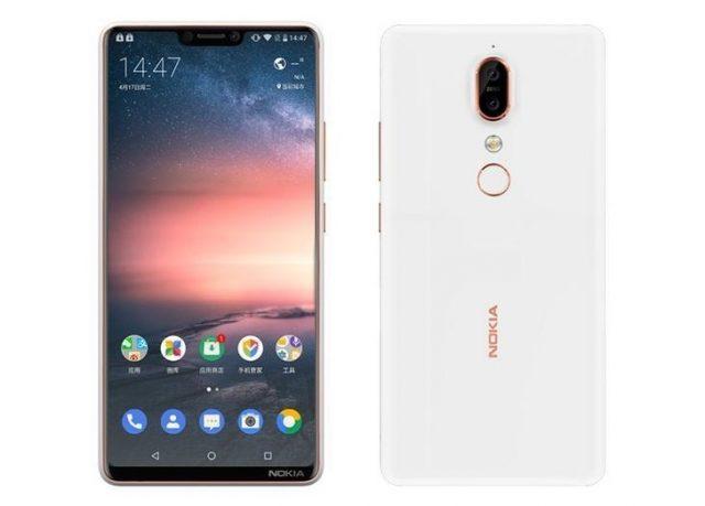 Nokia X6 parte frontal y trasera