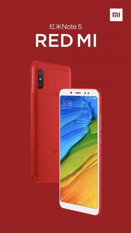 Xiaomi Redmi Note 5 Rojo