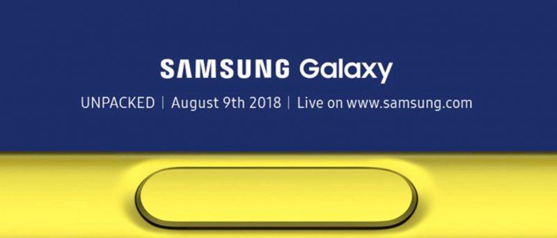 Samsung Galaxy Note 9 presentación