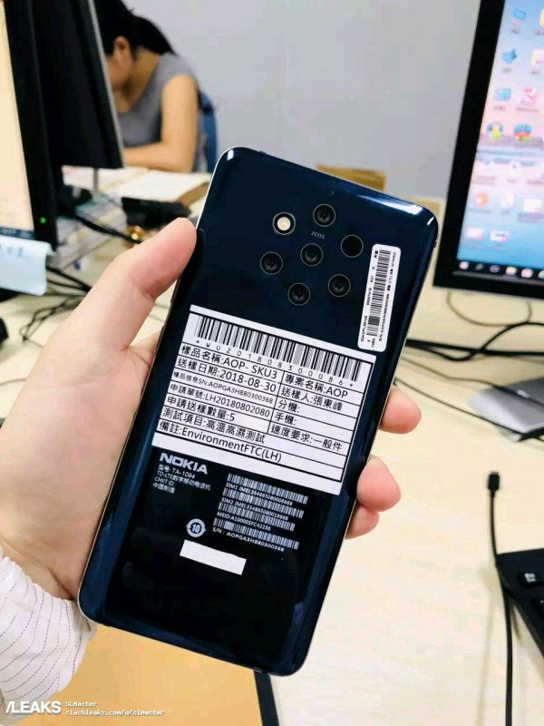 Nokia 9 con 5 cámaras