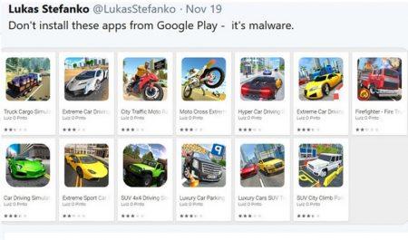 13 apps con malware borradas de la Play Store