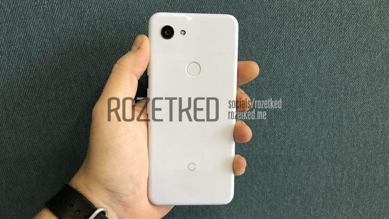 Google Pixel 3 Lite en su parte trasera