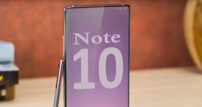 Primera imagen del Samsung Galaxy Note 10