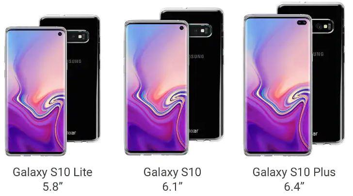 Samsung Galaxy S10 en sus distintas versiones