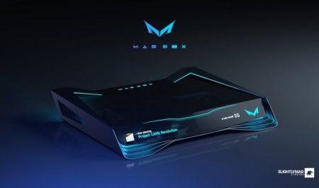 Frontal de la consola Mad Box