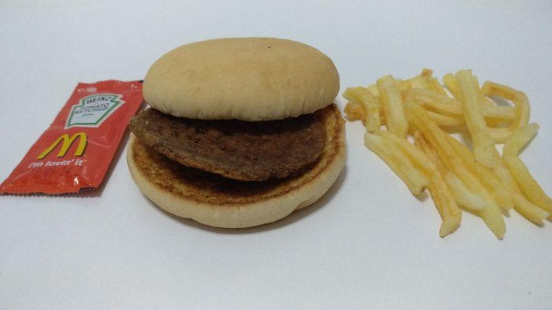 Hamburguesa McDonalds quinto cumple