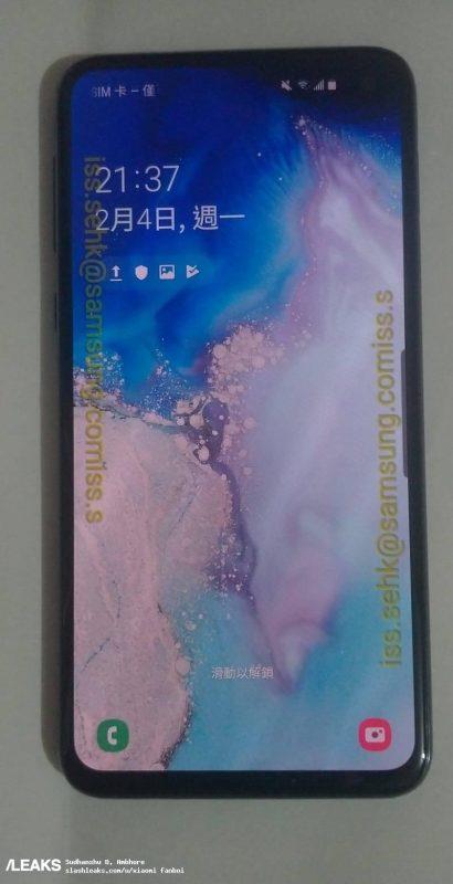 Foto real del Samsung Galaxy S10e