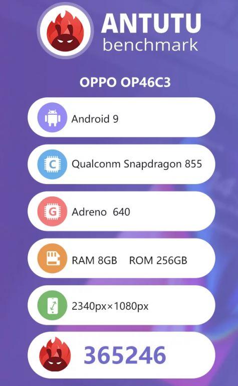 Antutu del Oppo OP46C3