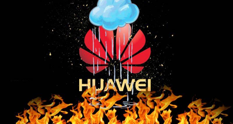 Huawei en llamas