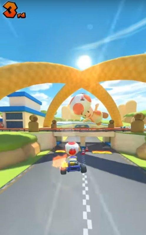 Salto en el Mario Kart Tour