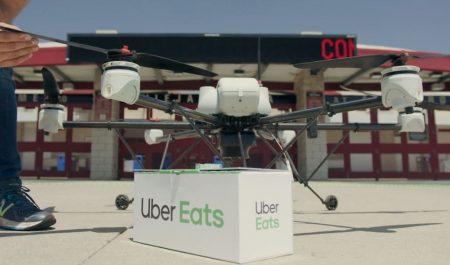 Dron de Uber Eats
