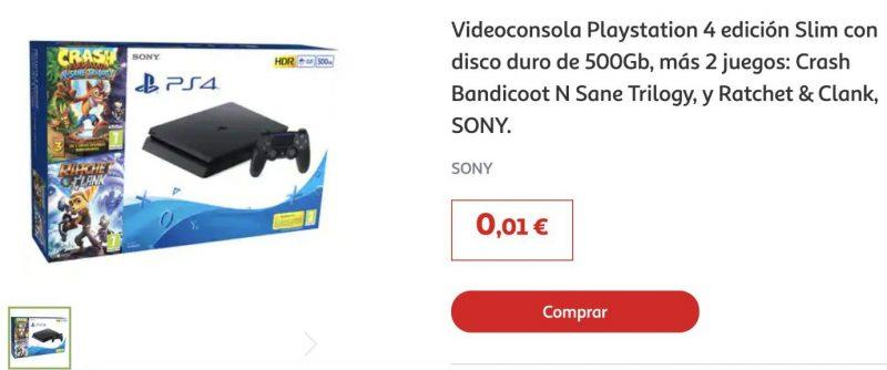 PS4 rebajada en Alcampo