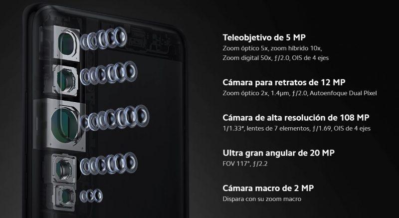 Cámaras de fotos del Xiaomi Mi Note 10