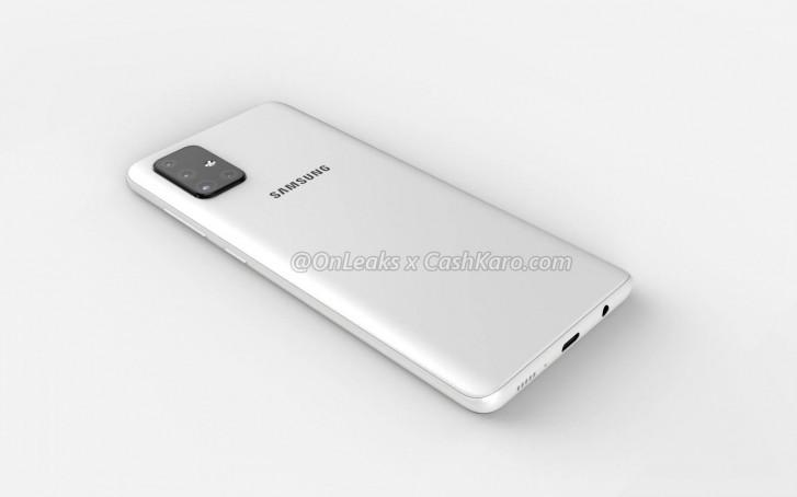 Samsung Galaxy A71 trasera