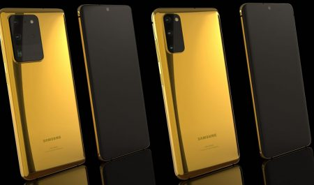 Samsung Galaxy S20 en oro