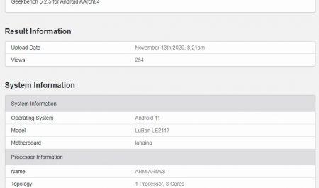 OnePlus 9 Pro en Geekbench
