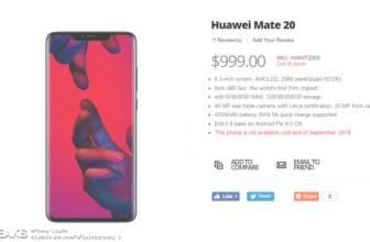 El Huawei Mate 20 filtra sus especificaciones y deja un buen sabor de boca