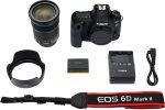 La caja de la Canon EOS 6d Mark II incluye