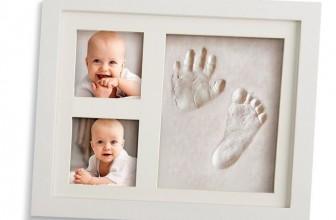 Marco para huella de mano y pie de recién nacido