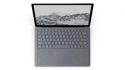 Microsoft Surface Laptop vista superior